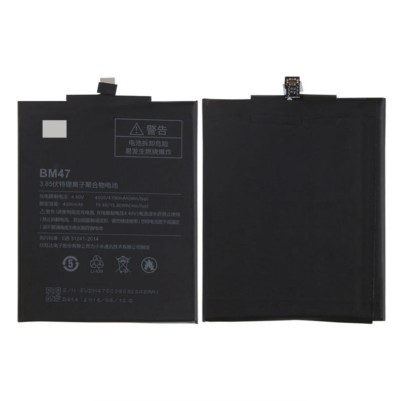 Baterai Xiaomi Redmi 3 Redmi 4x 4000mah Bm47 Black