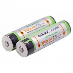 VariCore 18650 Rechargeable Li-ion Battery 3400mAh 3.7V Button Top - 3
