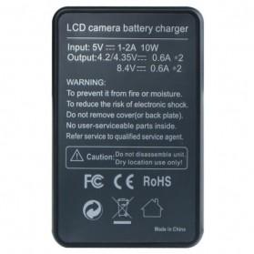 Mayitr Charger Baterai Kamera 2 Slot untuk SONY NP-BX1 - LCD2-NPBX1 - Black - 5