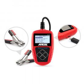 ANCEL Tester Baterai Aki Mobil Motor 12V 2000CCA 220AH - BA101 - Red - 8
