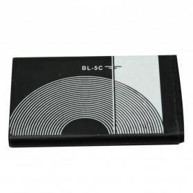 Baterai & Charger - Baterai Nokia BL-5C BL-5CA BL-5CB BR-5C (Replika 1:1) - Black