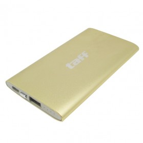 Taff Power Bank Super Slim 3600mAh for Smartphone - MP4 (BULK PACKAGING) - Golden