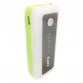 Taff Power Bank 5200mAh Model MP5 for Tablet and Smartphone ( MP5 ) - White/Green