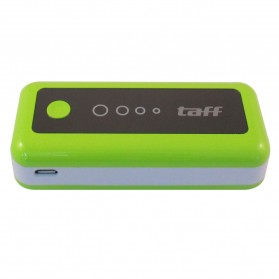 Taff Power Bank 5200mAh Model MP5 for Tablet and Smartphone ( MP5 ) - Green with White Side - 2