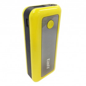 Taff Power Bank 5600mAh Model MP6 for Tablet and Smartphone - Yellow with Black Side