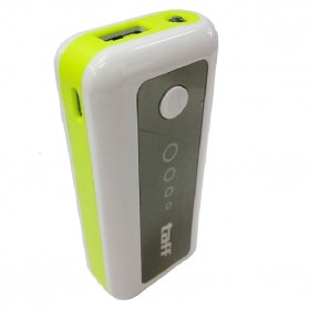 Baterai & Charger - Taff Power Bank 5200mAh Model MP5 (No Box) for Tablet and Smartphone ( MP5 ) - White/Green