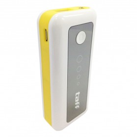 Baterai & Charger - Taff Power Bank 5200mAh Model MP5 (No Box) for Tablet and Smartphone ( MP5 ) - White with Yellow Side
