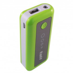 Baterai & Charger - Taff Power Bank 5200mAh Model MP5 (No Box) for Tablet and Smartphone ( MP5 ) - Green with White Side