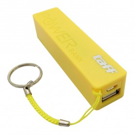 Taff Power Bank 2400mAh Model Keychain MP12 for Smartphone - Yellow