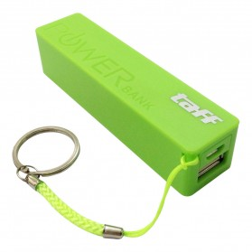 Taff Power Bank 2400mAh Model Keychain MP12 for Smartphone - Light Green - 1