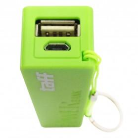 Taff Power Bank 2400mAh Model Keychain MP12 for Smartphone - Light Green - 2