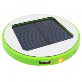 Taff Round Solar Charger Power Bank 1500mAh - Green
