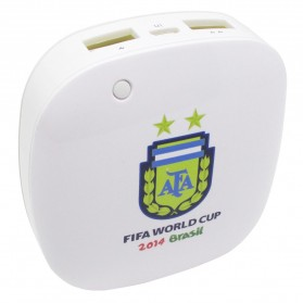 Taff Smart Power Bank 6000mAh 2014 Brazil World Cup 32 Team Argentina - MP60 - White