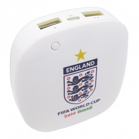 Taff Smart Power Bank 6000mAh 2014 Brazil World Cup 32 Team England - MP60 - White