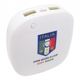 Taff Smart Power Bank 6000mAh 2014 Brazil World Cup 32 Team Italy - MP60 - White