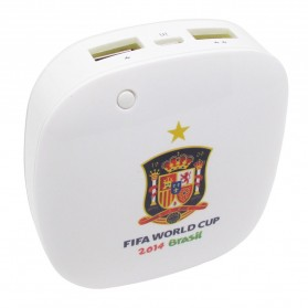 Taff Smart Power Bank 6000mAh 2014 Brazil World Cup 32 Team Spain - MP60 - White
