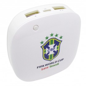 Taff Smart Power Bank 6000mAh 2014 Brazil World Cup 32 Team Brazil - MP60 - White