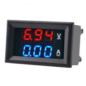 Tester Listrik & Multimeter - Alat Pengukur Listrik Voltmeter Ammeter LED - GN-0117 - Black