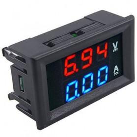 Alat Pengukur Listrik Voltmeter Ammeter LED - GN-0117 - Black - 3
