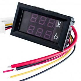 Alat Pengukur Listrik Voltmeter Ammeter LED - GN-0117 - Black - 4