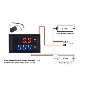 Alat Pengukur Listrik Voltmeter Ammeter LED - GN-0117 - Black - 6