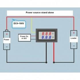 Alat Pengukur Listrik Voltmeter Ammeter LED - GN-0117 - Black - 7