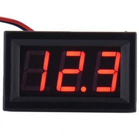ATORCH Alat Pengukur Tegangan Listrik Voltmeter LED - 123 - Black - 4