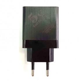 CARPRIE Charger USB Fast Charging 3 Port 2.4A - ZP180 - Black - 4