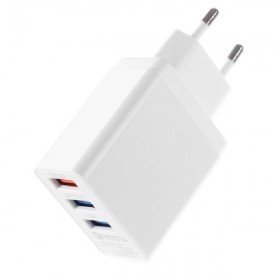 CARPRIE Charger USB Fast Charging 3 Port 2.4A - ZP180 - White