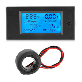 VBESTLIFE Alat Pengukur Listrik Power Voltmeter Accurate Ammeter LED Display 100A - GN-0118 - Black