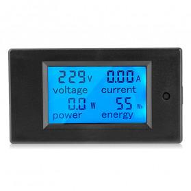 VBESTLIFE Alat Pengukur Listrik Power Voltmeter Accurate Ammeter LED Display 100A - GN-0118 - Black - 10