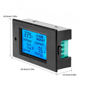 VBESTLIFE Alat Pengukur Listrik Power Voltmeter Accurate Ammeter LED Display 100A - GN-0118 - Black - 4