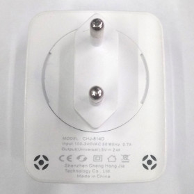Olaf USB Charger Rotary Plug 2 Port 2.1A - CHJ-814D - White - 5