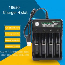 Rovtop Charger Baterai 18650 4 Slot - BH-042100-04U - Black - 3