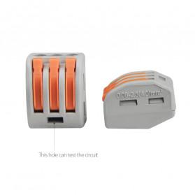 Guillermo Terminal Block Konektor Sambungan Kabel Listrik Plug-in Wire Connector - PCT-215 - Gray - 3