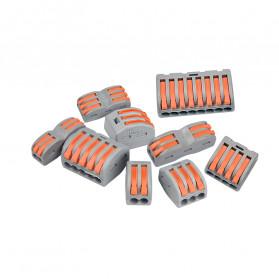 Guillermo Terminal Block Konektor Sambungan Kabel Listrik Plug-in Wire Connector - PCT-215 - Gray - 5