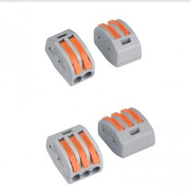 Guillermo Terminal Block Konektor Sambungan Kabel Listrik Plug-in Wire Connector - PCT-215 - Gray - 6