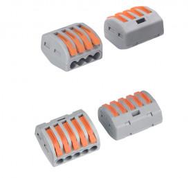 Guillermo Terminal Block Konektor Sambungan Kabel Listrik Plug-in Wire Connector - PCT-215 - Gray - 7