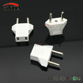 Plug Adapter US ke EU - White