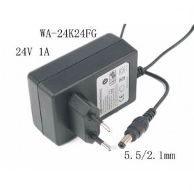 APD Power Adapter 24V 1A 5.5x2.1mm EU Plug - WA-24K24FG - Black