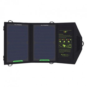 ALLPOWERS USB Foldable Solar Powered Charger 2 Panel 10W - AP-SP5V - Black