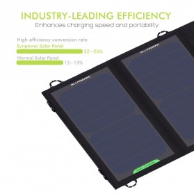 ALLPOWERS USB Foldable Solar Powered Charger 2 Panel 10W - AP-SP5V - Black - 2
