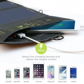 ALLPOWERS USB Foldable Solar Powered Charger 2 Panel 10W - AP-SP5V - Black - 3