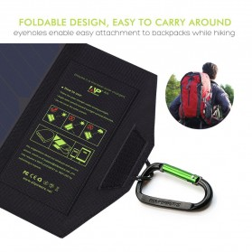 ALLPOWERS USB Foldable Solar Powered Charger 2 Panel 10W - AP-SP5V - Black - 4