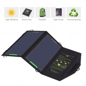 ALLPOWERS USB Foldable Solar Powered Charger 2 Panel 10W - AP-SP5V - Black - 5