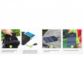 ALLPOWERS USB Foldable Solar Powered Charger 2 Panel 10W - AP-SP5V - Black - 9