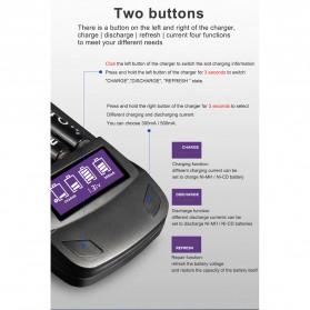 PALO Charger Baterai 4 Slot LCD Display for AA AAA - NC558 - Black - 7