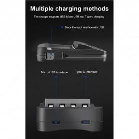 PALO Charger Baterai 4 Slot LCD Display for AA AAA - NC558 - Black - 9
