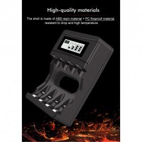 PALO Charger Baterai 4 Slot LCD Display for AA AAA 1.5V - NC560 - Black - 8