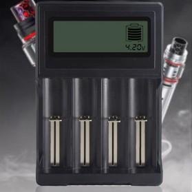 PALO Charger Baterai Lithium 4 Slot LCD Display for 18650 26650 16340 - NC571 - Black - 2
